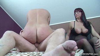 Mature, German mature, Big titted mom, Threesome german, Wife first