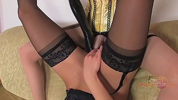 Pantyhose, Lesbian foot, Cum pantyhose, Stocking foot, Strap on, Pantyhose foot