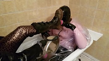 Spanking, Boots, Face sitting, Footjobs, Mask, Latex bondage