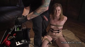 Squirt, Tied, Anal pain, Anal squirt, Rope, Submissive