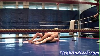 Catfight, Boxing, Sexfight, Lesbian sexfight, Ring