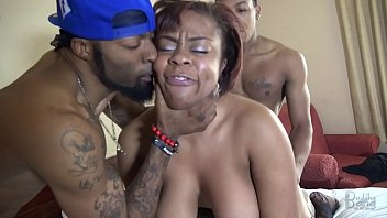 Big tit, Ebony threesome