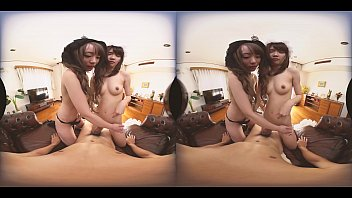 Japanese threesome, Japanese handjob, Japanese maid, Asian maid, Teen asian