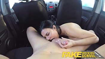 Faked, Fake driving, Mature woman, Test, Young man, Examination