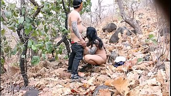 Bhabhi, Indian wife, Forest, Indian blowjob, Indian outdoor, Indian hardcore