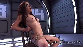 Machine, Kink, Machine squirt, Tied up fuck, Hairy anal, Fuck machine
